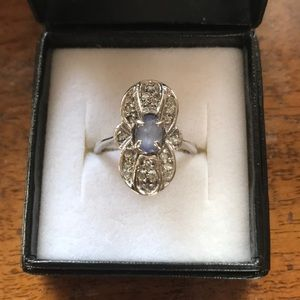 Jewelry - 💜14KT💜White Gold Tanzanite & Diamond Ring